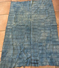 """African Mali,Dogon Indigo Dyed Striped Fabric/Hand Woven Cotton Strips,36""""x49"""""""