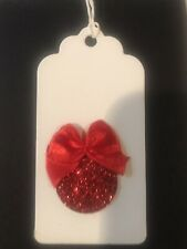 """Natural Merry Christmas Red  Bauble  """" X 6 Gift Tags"""
