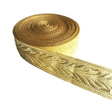Amazing Gold handmade Woven Jacquard ribbon 1inch wide - selling by the yard