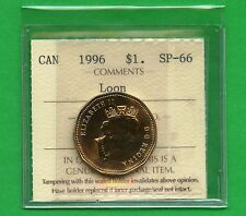1996 Canada Loon Dollar Graded ICCS SP66 Certification # CK 794