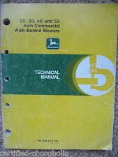 "John Deere 32"" 36"" 48"" 52"" Walk Behind Mowers Technical Repair Manual TM1305"