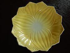 Anchor Hocking Fire King Vitrock Yellow LEAF & BLOSSOM Dessert Plate (loc-9P)