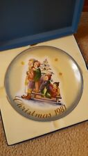 A Time To Remember By Berta Hummel Christmas 1981 Plate In Original Box - Gift