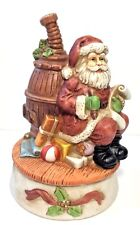 Music Box Santa Claus is Coming to Town Christmas Holiday