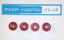 Corgi 267 Batmobile Reproduction Set Red Plastic Road Wheels with Silver Centres