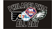 Philadelphia All Day Eagles Phillies 76ers Flyers 3x5 FT New Flag Metal Grommets