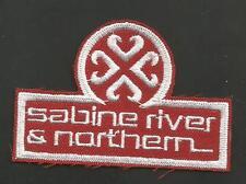 "SABINE RIVER & NORTHERN  RAILROAD    PATCH 2  X 3   """