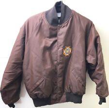 Vintage Mens Nylon Jacket Military Patch Harvard Clothing Otterwear USA 2X Brown