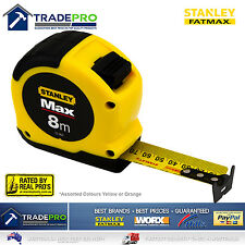 Stanley Tape Measure 8m Metric Fatmax Quality 8Mtr Metre Assorted Yellow Orange