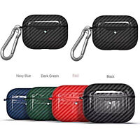 For Apple AirPods Pro Carbon Fiber Earphone Rugged Shockproof Case Cover Skin