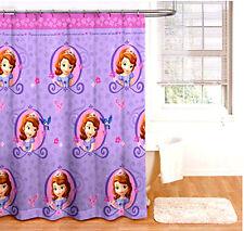 Disney Sofia The First Shower Curtains178x183cm Fabric Bed Bath Room Decor Kids