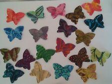 Petite Batik Butterflies Large fabric Pack remnants patchwork bundle 100% cotton