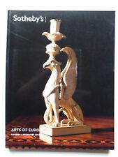 Catalogue Sotheby's, Arts of Europe, mobiliers et objets d'art