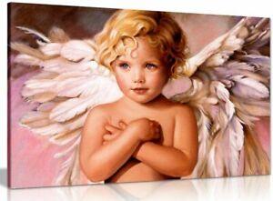 Beautiful Angel Baby Boy Fantasy Canvas Wall Art Picture Print