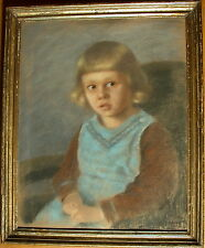 Clothilde TSCHUPPIK (1865-1926) Mädchenportrait - Pastell