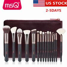 US DELIVERY 15PCs Rose Gold Makeup Brush Set Professional Kit Natural Hair Brush