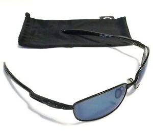 RARE OAKLEY BLENDER SUNGLASSES Black Frames w/ Ice Iridium Polarized Lenses