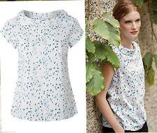 WHITE STUFF Women's Cotton Hip Length Short Sleeve Sleeve Tops & Shirts