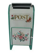 Handmade White & Green All Chic Vintage Retro Mail Post Box Flower Wedding Gift
