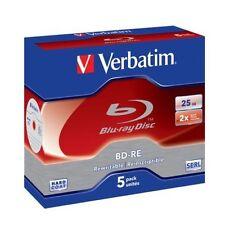 Verbatim #43615 - Blu Ray BD-RE REWRITABLE - 2x 25gb ( 5pz in Jewel Box )