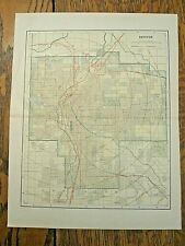 Original 1914 map of Denver Colorado