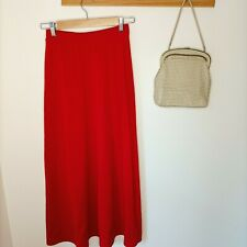 Vintage knit SUPRE skirt 90s Y2k cottagecore knitwear knit knitted red cute maxi