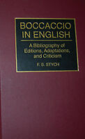 STYCH Boccaccio in English A Bibliography of Editions autograph of the author