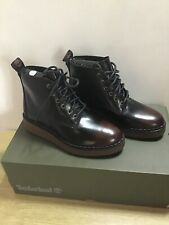 Timberland Ladies Bluebell Lane Ankle Boot Dark Red Brush Off Size UK 4 EU 37