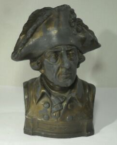 alte FRIEDRICH DER GROßE BÜSTE aus Stein Der alte Fritz Preußen Figur Skulptur