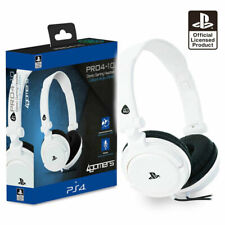 PS4 Gaming Chat Headset with Mic WHITE Officially Licensed PRO4-10 PlayStation 4