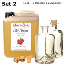 Alte Himbeere 5 L inkl. 2 Flaschen + 2 Ausgießer 40% Vol. Obstler kein Brand