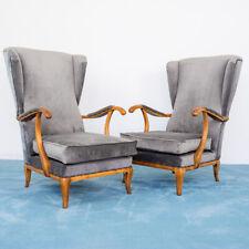SET 2 poltrone Paolo Buffa velluto legno noce design anni50 vintage modernariato