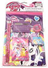 My Little Pony magic 7 piece calculator school supplies set pencils eraser