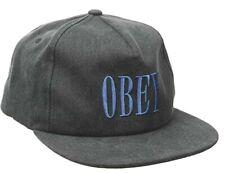 OBEY en Floración Hombre 100% Algodón Ajustable Gorra Snapback Negro Nuevo