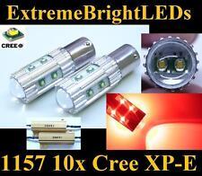 TWO RED 50W 10x Cree XP-E 1157 2357 Turn Signal Lights + 2 Load Resistors
