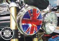 Sticker de PHARE UNION JACK Street Speed Triple Triumph Rocket 3 - Rond