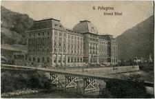 1910 San Pellegrino Terme - Veduta esterna del Grand Hotel - FP B/N VG