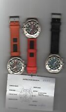 watch chronograph Pluritime unisex - three colors watch strap - choose colours