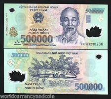 VIETNAM 500000 DONG P124 2005 RARE DATE POLYMER HCM UNC BILL WORLD CURRENCY NOTE