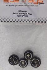 SIDEWAYS SW23/W01 BMW M1 + 3/32 ALUMINUM WHEEL SET NEW 1/32 SLOT CAR PART