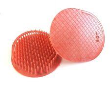 2PCS RED ROUND SHAMPOO HAIR BRUSH PLASTIC MASSAGE SCALP SHOWER COMB (VA133B-R)
