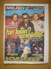 MELODY MAKER 1998 OCT 3 FUN LOVIN CRIMINALS SILVER SUN