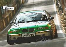 Autograph on Photo 13x18 cm Macau 2002 Franz Engstler-BMW 320i