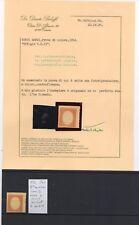 1854 Lotto Matraire(?) STATI SARDI prove di stampa vari colori MH*/(*) un CERT.