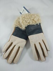 Ladies Universal Thread Faux Fur Trimmed Leather Multi Color Gloves Xs/S NWT