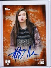 The Walking Dead Season 5 Autograph Card Katelyn Nacon As Enid 33/99