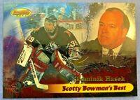 1998-99 Topps Bowmans Best Scotty Bowmans Best #SB1 Dominik Hasek Buffalo Insert