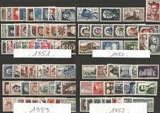 Année complète 1950 A 1959 .9 Années   France  Neuf *