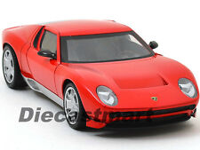 LAMBORGHINI MIURA CONCEPT RED 1:24 DIECAST MODEL CAR BY MOTORMAX 73367
