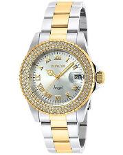 Invicta Reloj Gold Oro Silver Plata Crystal Mujer Pulsera Watch Woman Bracelet